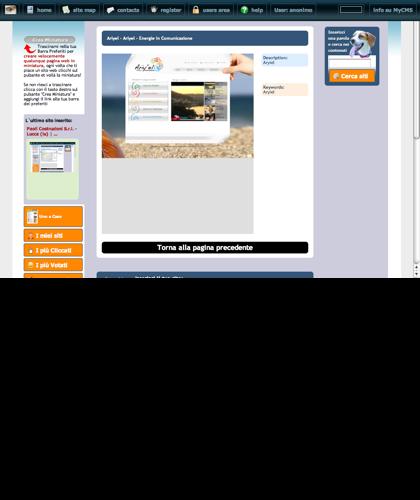Ariyel - Ariyel - Energie In Comunicazione Icone Siti Web Miniature - Thumbnails