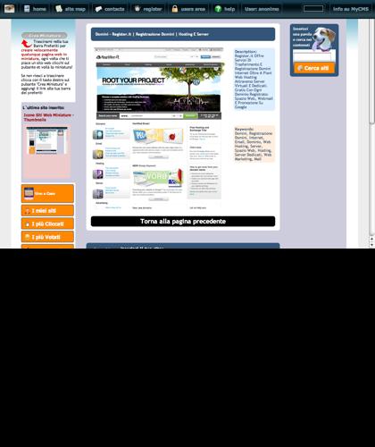 Domini - Register.it   Registrazione Domini   Hosting E Server Icone Siti Web Miniature - Thumbnails