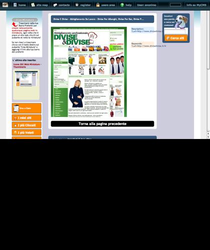 Divise E Divise - Abbigliamento Da Lavoro - Divise Per Alberghi, Divise  Per Bar, Divise P... Icone Siti Web Miniature - Thumbnails