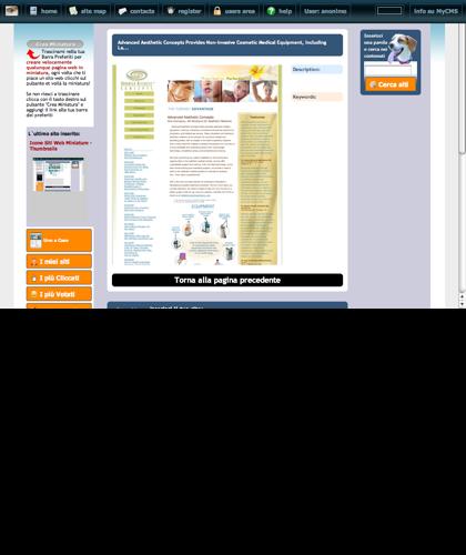 Advanced Aesthetic Concepts Provides Non-invasive Cosmetic Medical Equipment, Including La... Icone Siti Web Miniature - Thumbnails
