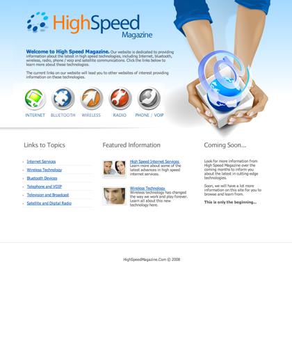 High Speed Magazine - Information And Links For High Speed Internet, Telephone, Bluetooth, Wireless, Television And More