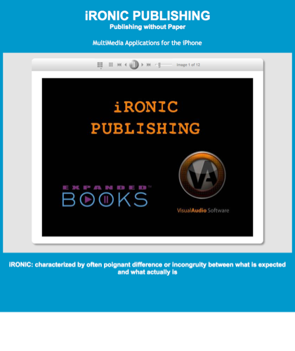 Ironic Publishing-multimedia Applications For Your Iphone