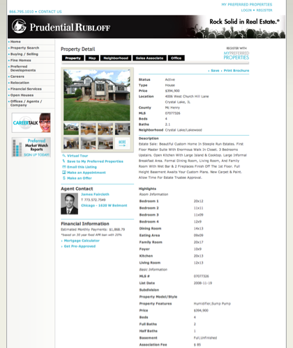 4006 West Church Hill Lane Crystal Lake, Il  - Chicagoland Homes For Sale