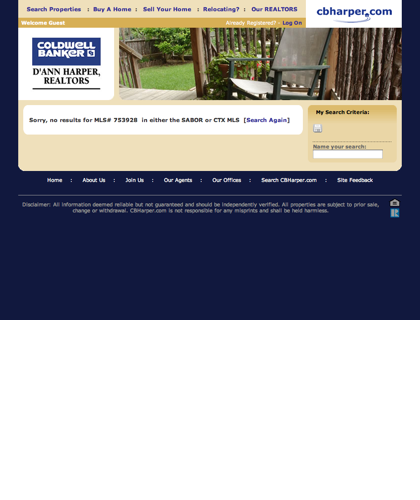 Cbharper.com :: Property Search Results At Coldwell Banker D'ann Harper Realtors®