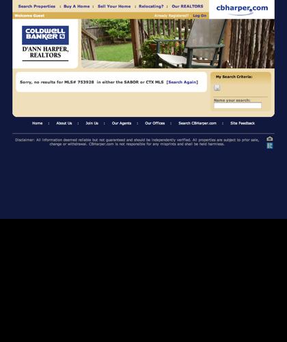 Cbharper.com :: Property Search Results At Coldwell Banker D'ann Harper Realtors®