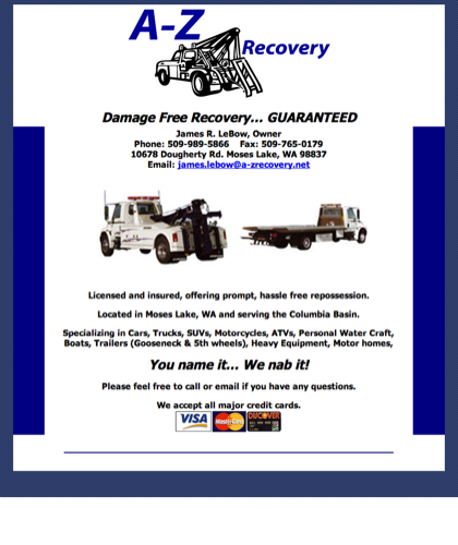 A-z Recovery - Damage Free Recovery... Guaranteed