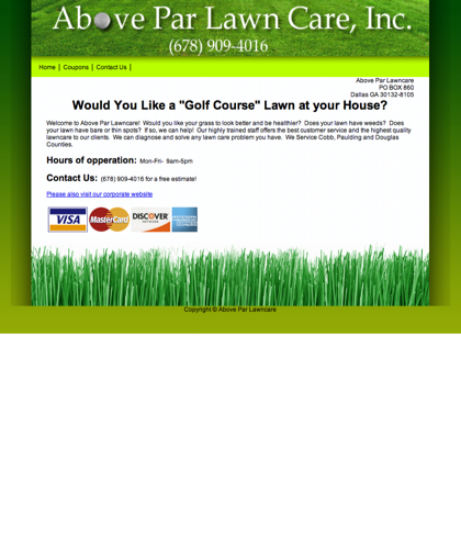 Above Par Lawncare Inc. Dallas, Ga - Lawn Care Service, Fertilization, Mowing