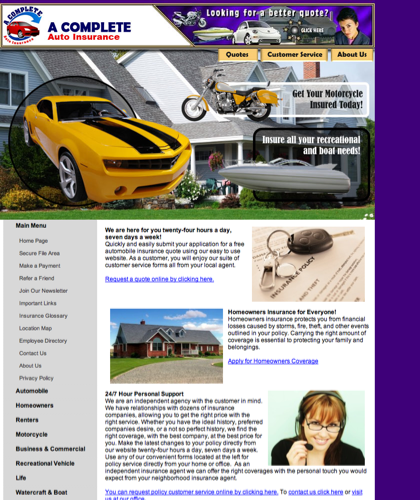 A Complete Auto Insurance Home Page - Www.acompleteins.com