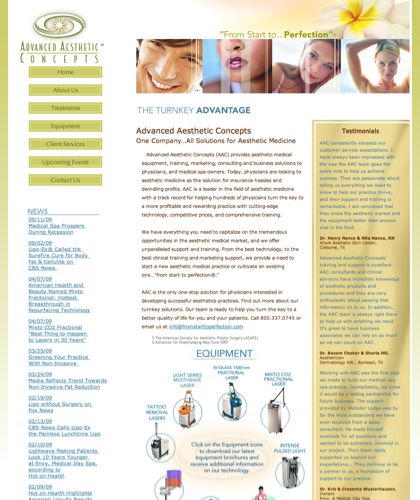 Advanced Aesthetic Concepts Provides Non-invasive Cosmetic Medical Equipment, Including Lasers And Fat Reduction Technology That Is A Non-surgical Alternative To Liposuction, As Well As Training, Marketing, Consulting And Business Solutions To Physicians,