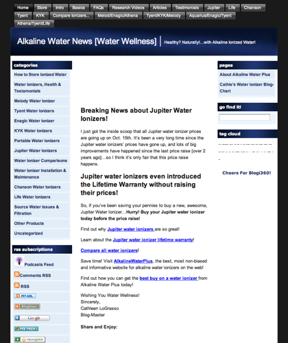 Alkaline Water Ionizer Machines | Ionize Water - Alkaline Water Plus