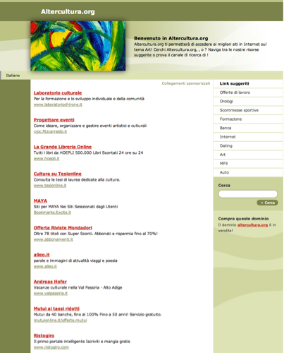 Altercultura.org - Le Migliori Risorse E Informazioni Sul Tema: Art.questa Pagina è In Vendita!