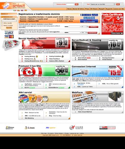 Aruba.it - Servizi Web Hosting - Registrazione Domini E Spazio Web Illimitato