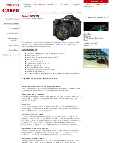 Canon Eos 7d Fotocamere Reflex Digitali - Canon Italia