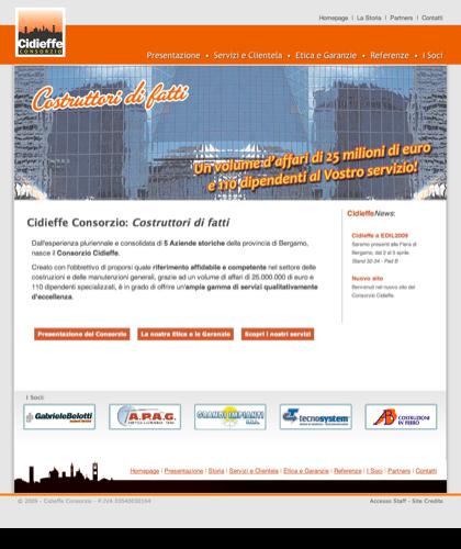Cidieffe Consorzio Bergamo - Costruttori Di Fatti - Homepage