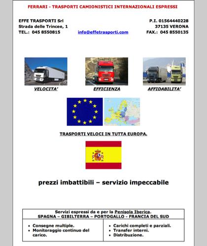 Effe Trasporti Srl - Trasporti E Spedizioni Internazionali - Effe Trasporti Srl - Home