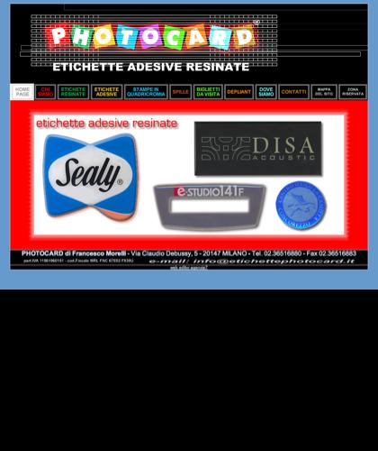 Photocard - Etichette Adesive Resinate: News