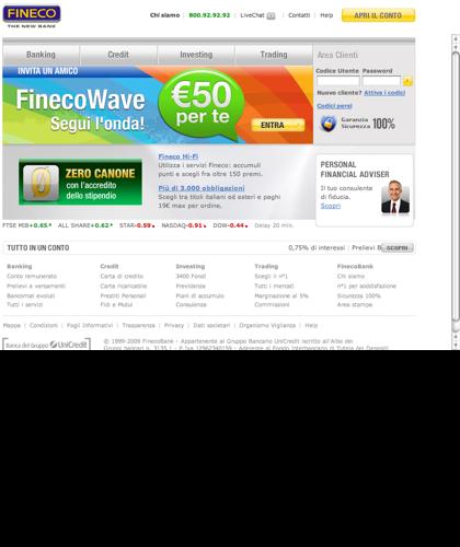 Fineco: Conto, Investimenti, Trading, Prestiti E Mutui - Banca Diretta, Online O Con Promotore