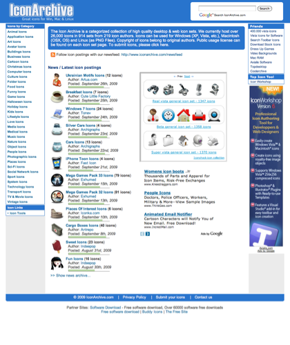 Icon Archive - 26,000+ Free Icons, Buddy Icons, Xp Icons, Vista Icons, Desktop Icons, Aim Icons