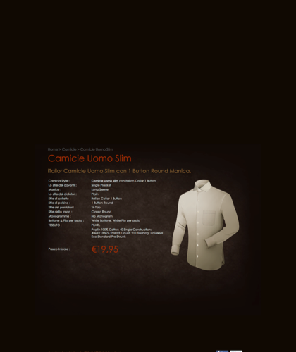 Itailor Camicie Uomo Slim - Camicie Su Misura €19,95