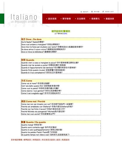疑問副詞和驚嘆詞 Avverbi Interrogativi Ed Esclamativi - Italiano -