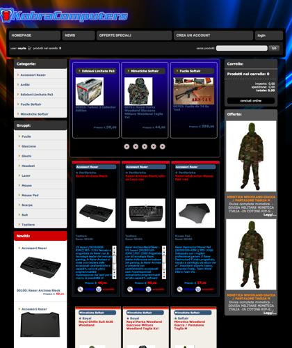 Computers E Periferiche  - Kobra Computer -  Monitors E Stampanti - Scanners Fotografia Digitale - Mouse Tastiere. Computers Portatili E Lap-top.