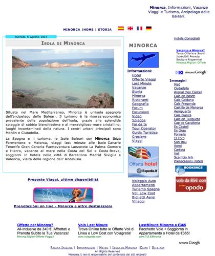 Minorca, Isola Delle Baleari