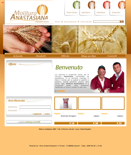 Farina E Grano Per Pasta - Molitura Anastasiana - Molituranastasiana - Materie Prime Per Home Garden, Agricoltura, Alimentare E Zootecnica
