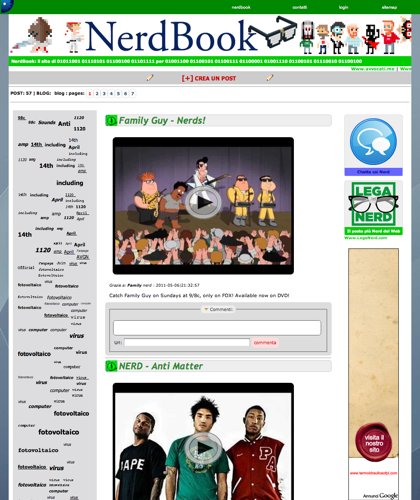 Nerdbook - Nerdbook - Nerdbook Il Sito Degli Amici Dei Nerd, Degli Amici Dei Geek, Goliardia E Cazzeggio Con Umorismo E Competenza, Entra E Crea, Proponi, Subisci E Castiga.
