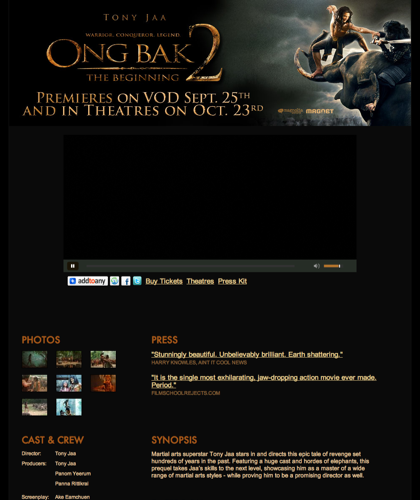Ong Bak 2 - Premieres On Vod Sept. 25th And In Theatres Oct 23rd