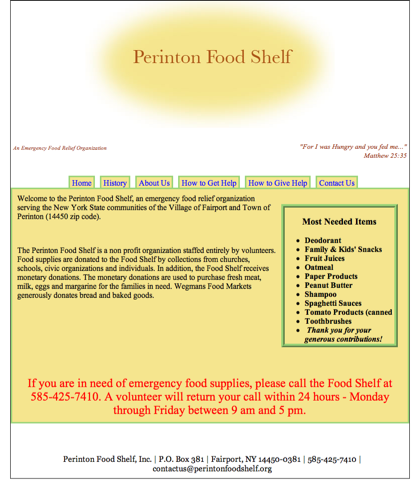 Perinton Food Shelf