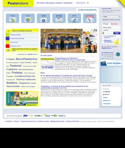 Poste Italiane - Homepage
