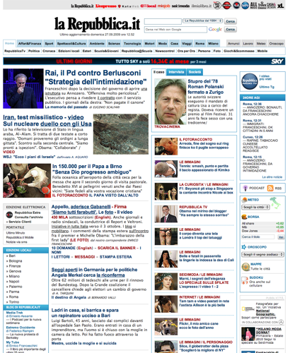 La Repubblica.it » Homepage