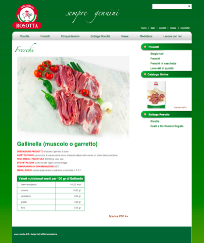 Freschi - Gallinella (muscolo O Garretto) - Rosotta - Rosotta Salumificio Dal 1962