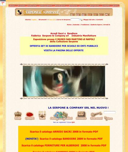 Arredi Sacri E Bandiere Fabbrica  Serpone & Company Srl    Industria Manifatture - Serpone -