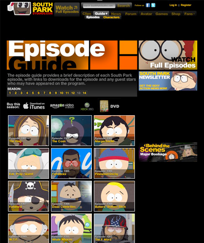 South Park Episode Guide - South Park Season 16|South Park South Park Season 16,  Reverse Cowgirl,  Cash For Gold,  Faith Hilling,  Jewpacabra,  Butterballs,  I Should Have Never Gone Ziplining,  Cartman Finds Love,  Episode 1608,  Episode 1609,  Episode 1610,  Episode 1611,  Episode 1612,  Episode 1613,  Episo...
