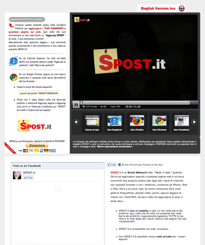 Spost.it Make A Post Everywhere - Add A Comment To Everypage Of The Web  Scrivi Sul Web  - Spost -  Create Pages On The Fly And Store Your Notes - Share All With Friends - Write A Note On A Site - Comment The Websites Of Your Friends - Ajax Post On All Po