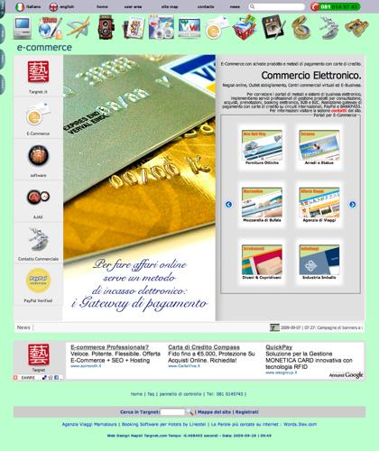 Ecommerce Software Per Acquisti, Outlet, Vendita Con Carrello, Ordini E Gateway Pagamenti Con Carte Di Credito - Software Ecommerce In Italia Targnet -  Personalizazione Di Schede Prodotto, Collegamenti Con I Principali Circuiti Di Pagamento Con Gateway S