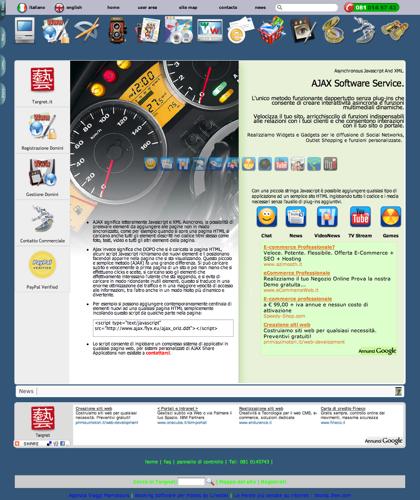 Ajax Software Per Socialnetworks Facebook Youtube Blogs Ecommerce Web Design - Software Ecommerce In Italia Targnet -  Crea Il Tuo Sito Ecommerce Ed Inizia La Tua Attivita In Rete E Il Tuo Commercio Elettronico
