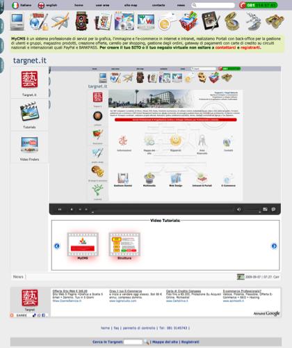 Tutorial Video Help Mycms Software Per Grafica Ed Ecommerce - Software Ecommerce In Italia Targnet - Targnet Crea E Fornisce Prodotti Multimediali Cdrom Dvd Cdcard Video Hd, 3d E Iconografici. Progettazione E Realizzazione Di Siti Web Interattivi Con Anim